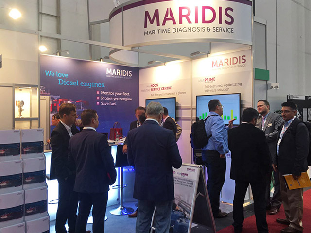 Highly professional audience at the MARIDIS stand 